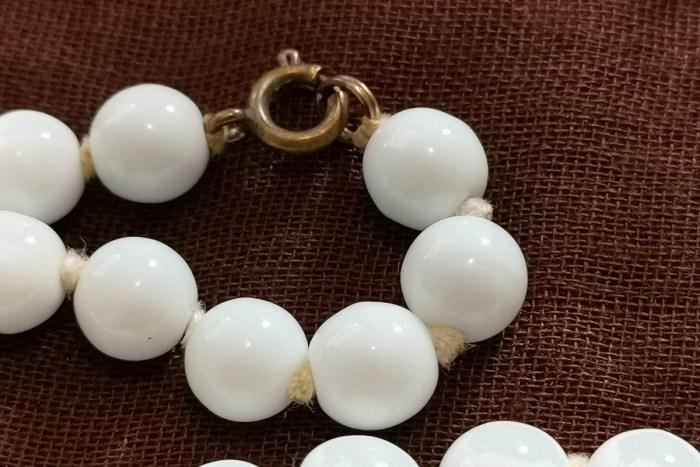 milk-glass flapper necklaces