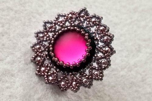 tropical rose brooch