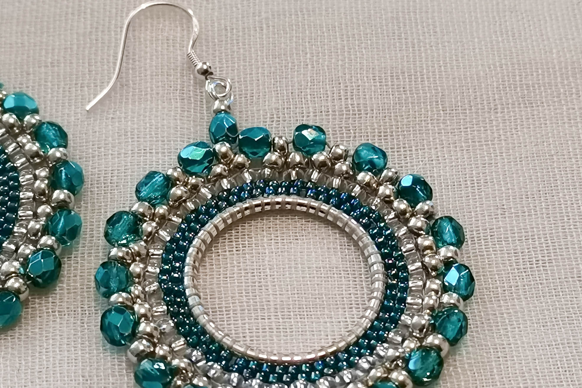 blue-hoop-earrings