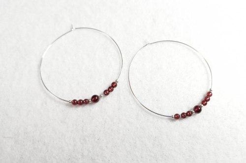 garnet-hoop-earrings