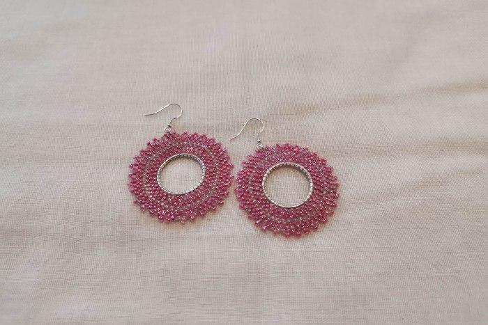 pink-hoop-earrings