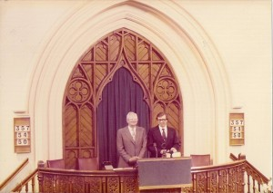 HK and FWD in Lansdowne pulpit - probably 1978 or 1979