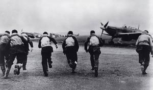 Battle of Britain pilots scrambling - 1940