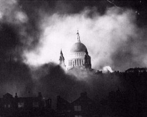 St. Paul's Cathedral survives the blitz.