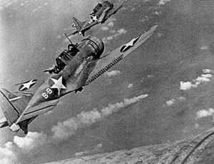 US dive bombers at the Battle of Midway