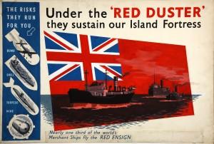 War effort poster for Merchant Navy