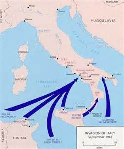 Map - invasion of Italy