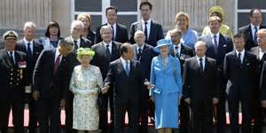 World leaders at D-Day 70 year anniversary - June 6 2014