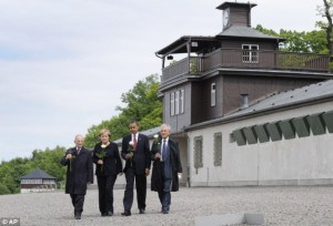 President Obama and Chancellor Merkel at Buchenwald in 2009