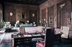 Hitler's study in the Chancellery