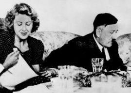 Hitler and Eva in the bunker.