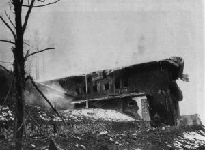 Hitler's Berghof after bombing and fire.