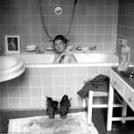 Lee Miller in Hitler's bathtub.