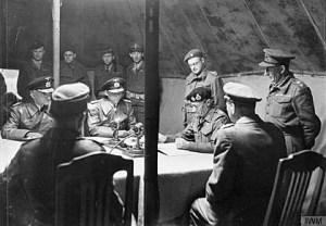 Surrender at Luneberg Heath - May 5, 1945