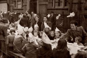 Street party - London - V.E. Day - May 8, 1945