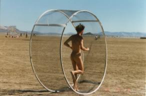 man in hamster wheel