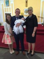 Sarah Louise O'Sullivan on her baptism day.