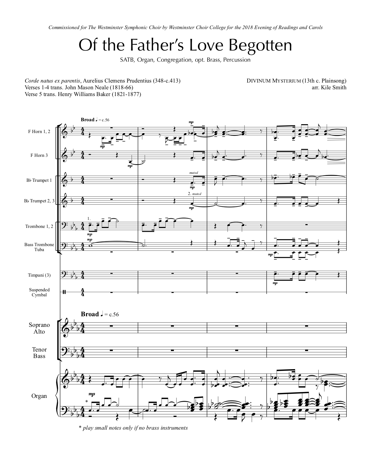 Of the Father's Love Begotten | Kile Smith • composer