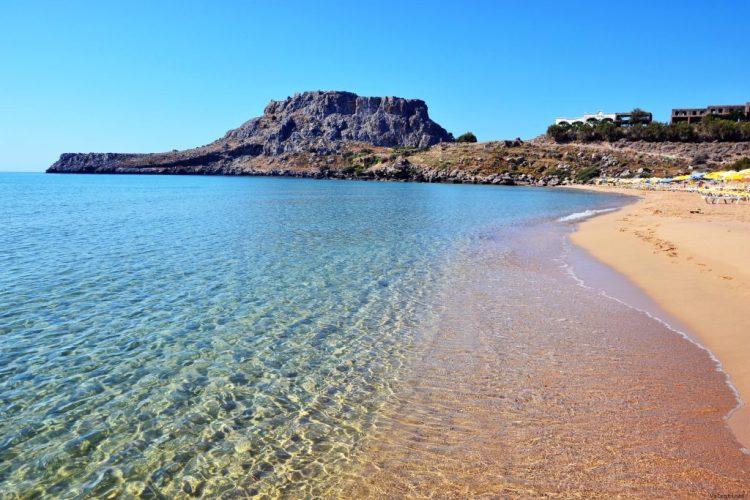 8 spiagge imperdibili sull'isola di Rodi: la spiaggia di Agathi