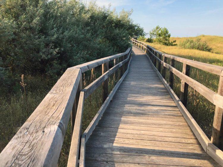 una passerella in legno per accedere alle spiagge di marina di ravenna