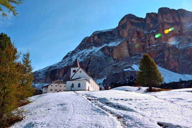 ABC dell'Alta Badia: prima neve all'ospizio della croce