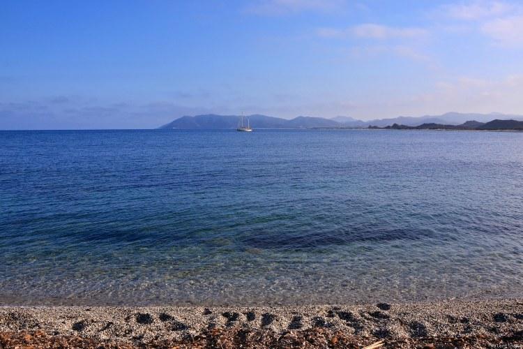 sardegna del sud est spiagge: piscina rei al tramonto
