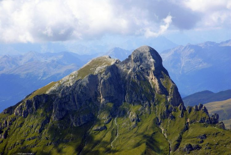 ABC dell'Alta Badia: veduta ravvicinata del sass de putia