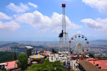 punti panoramici su barcellona: il parco attrazioni tibidabo
