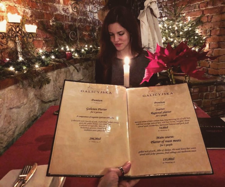 dove mangiare a cracovia: valentina e mattia a tavola