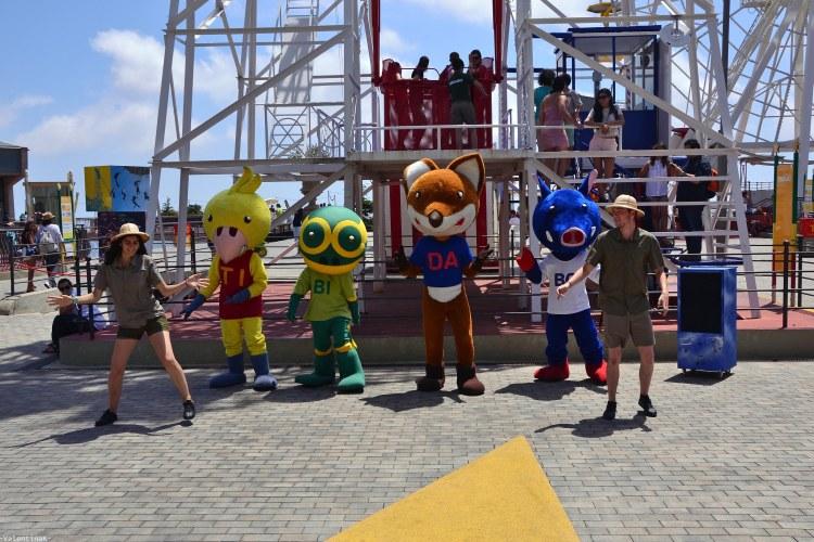 le mascotte del parco divertimenti del tibidabo