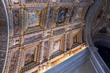 palazzo ducale di venezia: il soffitto della scala d'oro