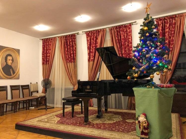 andare a cracovia per natale: sala dei concerti dedicati a chopin