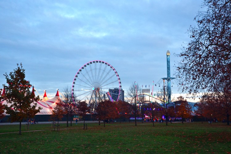 winter wonderland di londra: il parco divertimenti in hyde park