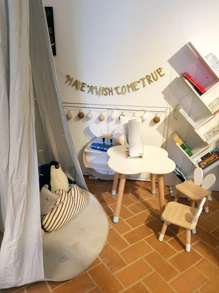 l'angolo dedicato ai bimbi del trinity cafè