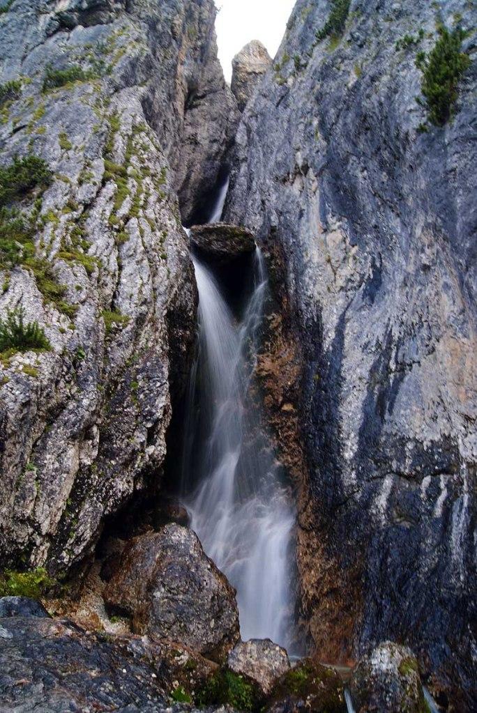 cascate del pisciadù in verticale