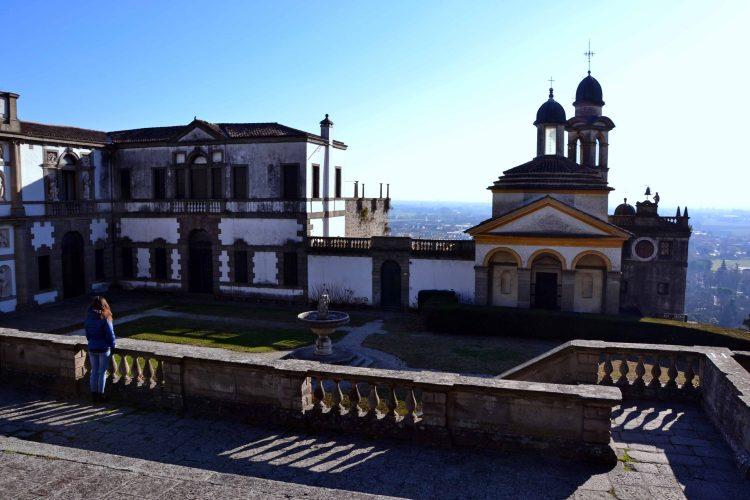 valentina a villa duodo ammirando villa duodo e la chiesa di san giorgio a monselice