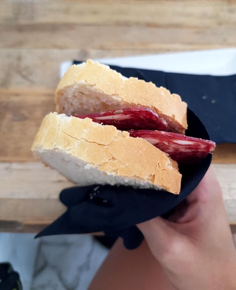 dove mangiare a chianciano terme: panino al salume toscano