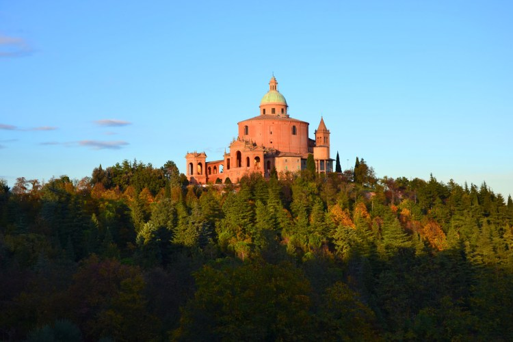 santuario di San Luca, veduta dal sentiero dei bregoli