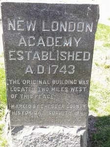New London Academy Established AD 1743