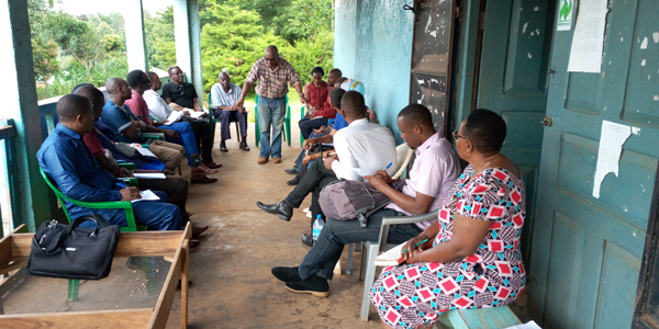 Teaching staff following explanations at Marangu East Rural Cooperative Society