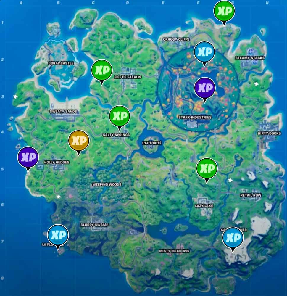 fortnite carte guide fortnite liste