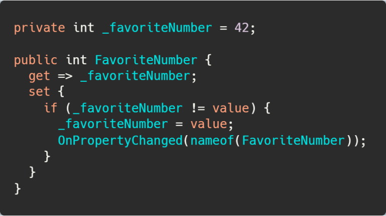 Notify Property Changed using the C# 6 nameof operator.