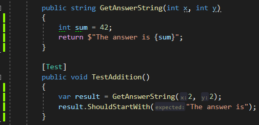 A unit test doing a horrible job of testing the result of a method