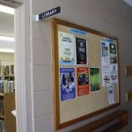 Library Bulletin Board and sign