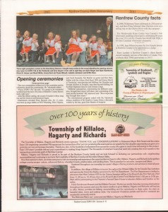 A Journey Through Time - Past, Present and Future. Published by The Eganville Leader, celebrating the 150th anniversary of Renfrew County. Page 10