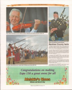 A Journey Through Time - Past, Present and Future. Published by The Eganville Leader, celebrating the 150th anniversary of Renfrew County. Page 14