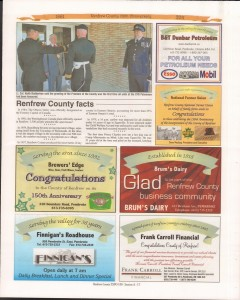 A Journey Through Time - Past, Present and Future. Published by The Eganville Leader, celebrating the 150th anniversary of Renfrew County. Page 15