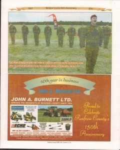 A Journey Through Time - Past, Present and Future. Published by The Eganville Leader, celebrating the 150th anniversary of Renfrew County. Page 7