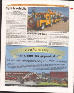 A Journey Through Time - Past, Present and Future. Published by The Eganville Leader, celebrating the 150th anniversary of Renfrew County. Page 34