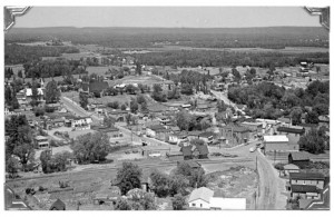 Aerial view of Killaloe circa 1970. Pearl Murack Collection.